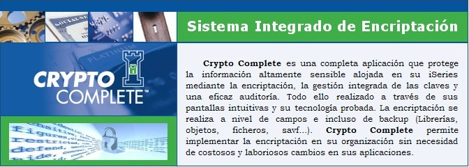 Crypto Complete - Solución de encriptación y cifrado para AS/400