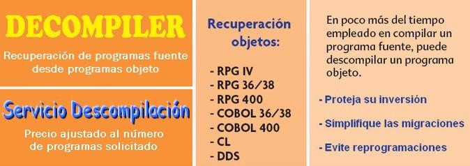 Decompiler - Obtener el fuente de sus programas RPG,CL...