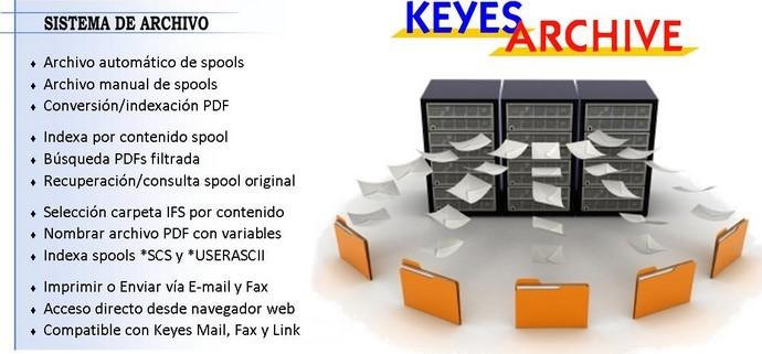 Keyes Archive - Salvado de spools en IFS con conversión a PDF. Indexación de PDF y Spools.
