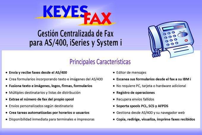 Keyes Fax: Envío y recepción de fax para AS/400, iSeries e IBM i.
