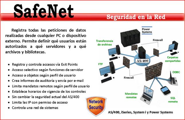 Safenet: La mejor protección de su AS/400 frente a los accesos externos.