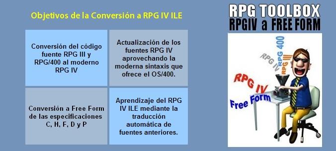 RPG Toolbox - Conversión de RPG a RPG ILE o Free Form - Actualización de RPG